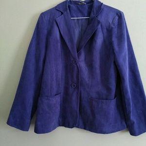 💜Kim Rogers Purple Suede Blazer Size Large💜